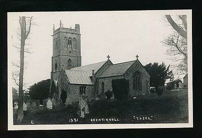 Somerset BRENT KNOLL Church Tosca Unposted c1920/50s? RP PPC