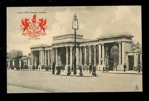 LONDON-Heraldic-View-Hyde-Park-Corner-Tuck-2175-1914-PPC
