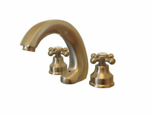 Aquabrass Rubinetterie 2 Handle Bathroom Faucet Nickel (00416)
