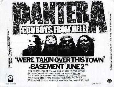 PANTERA We're Takin' Over This Town FLYER Original Merchandise Dimebag Darrell