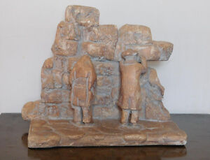 "Vintage Sculpture ""Wailing Wall"" by Austin Productions Inc.,1973"