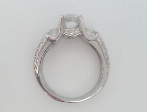 PLATINUM VERRAGIO 1.56 CTW DIAMOND ENGAGEMENT RING CERTIFIED