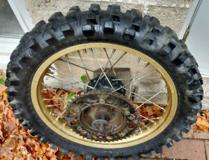 1980, 81, 82 Yamaha YZ125 rear wheel good straight shape
