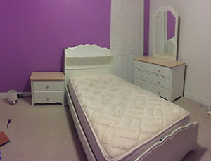 SOLD - Thank you/Girl's Twin White Bedroom Set St. John's Newfoundland image 1