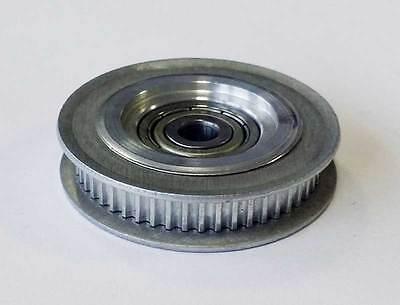Zahnriemenscheibe, 51 Zähne, Teilung 2 mm, Breite 8mm, kugelgelagert Innen-Ø 5mm
