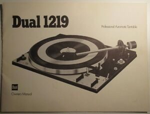 Dual 1219 Turntable Owner's Manual. English West Island Greater Montréal image 2