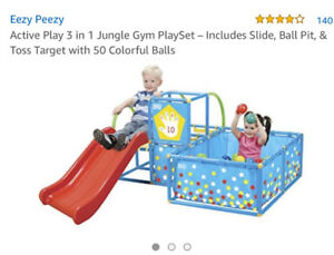 Eezy Peezy baby toddler ball pit active play slide step 2 fish
