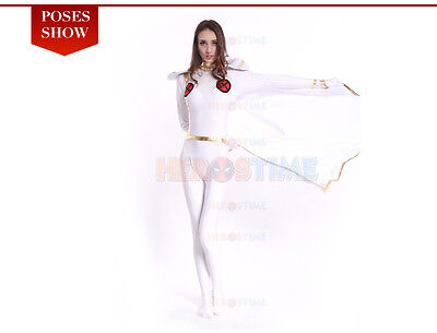 X-men White Storm Woman Superhero Costume Spandex Halloween Cosplay Party Suit  - Cosplay Storm Costume