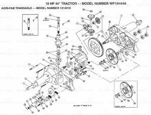 recherche différentiel agri-fab pour tracteur Yard Pro 18hp
