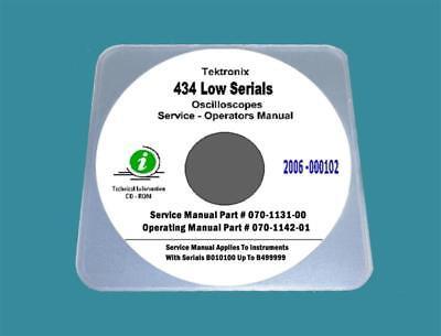 Tektronix 434 Oscilloscope Service Ops Manuals Lo Serials With 17x11 Diagrams