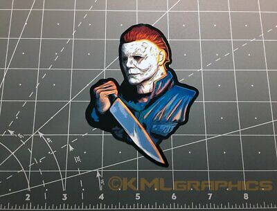 Michael Myers Halloween movie vinyl decal sticker 1980s horror icons 80s