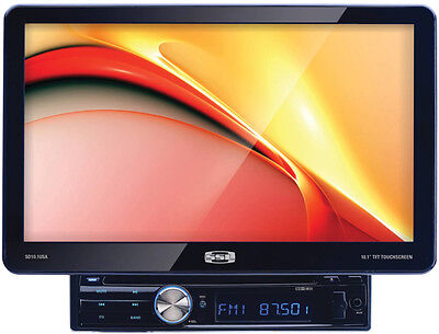 "SSL SD10.1USA  SINGLE DIN CAR 10.1"" TOUCH MONITOR DVD/CD PLAYER STEREO RECEIVER"
