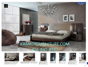 Queen or King size beds, Bedroom Sets, Nightstands, Wardrobes.