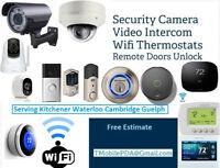 Surveillance Camera - Wifi Thermostat - Video Door Bell Install.
