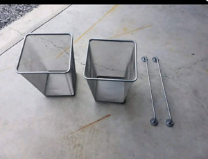 Ikea Garbage cans and towel racks