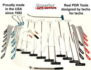 45pc PDR Tool set- Paintless Dent Repair Tool set+Light NEW