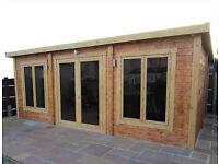 5m x 3m log cabin