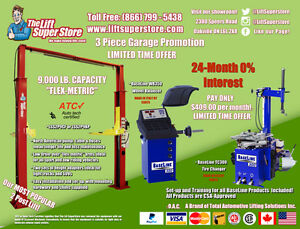 Auto Lift + Tire Balancer + Tire Changer Promotion