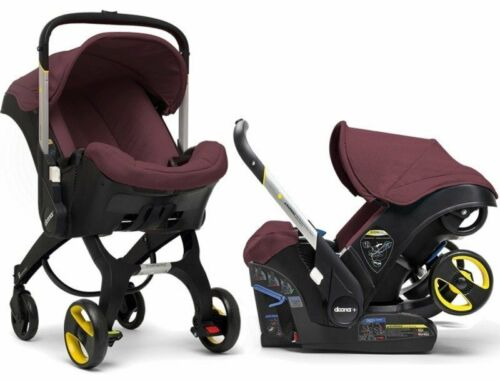 Doona Infant Car Seat & Stroller accessories Latch Base Travel System Burgundy