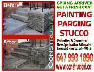 Get a FRESH COAT of Painting, Parging or Stucco