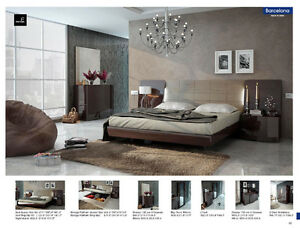 Barcelona Bedroom set. Made in Spain. New from showroom