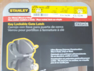 Lockable Gate Latch Brand New Still in Box $25