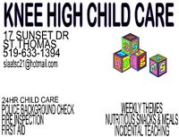 SUNSET DR, ST.THOMAS. 2 SPOTS AVAILABLE. KNEE HIGH CHILD CARE