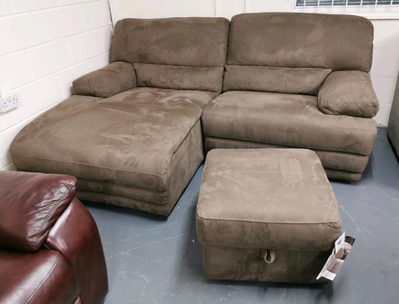 Havreys Kneller chaise recliner sofa and storage Footstool | in Pontardawe,  Swansea | Gumtree