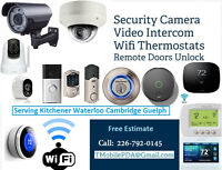 Surveillance Camera - Wifi Thermostat - Video Door Bell Install.