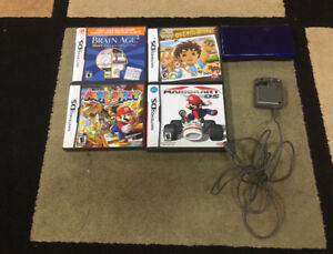 Nintendo DS Blue and Black edition with games and charger