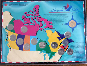 Commemorative Coin set of Canadian 125th anniversary