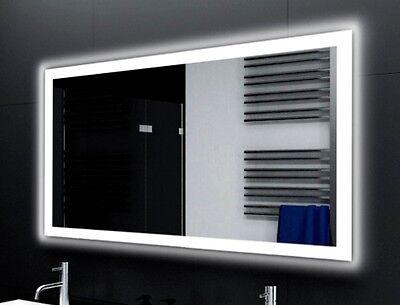 Schlafzimmer Spiegel (Badspiegel LUX mit LED Beleuchtung Badezimmerspiegel Bad Spiegel Wandspiegel Maß)