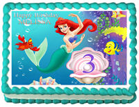 LF- personalized little mermaid cake topper image (JPEG only)