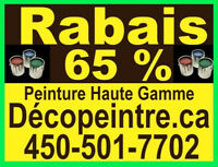 ********   65% DE RABAIS PEINTURE HAUTE GAMME   *********