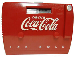 COCA COLA OLD TYME COOLER AM/FM RADIO CASSETTE PLAYER