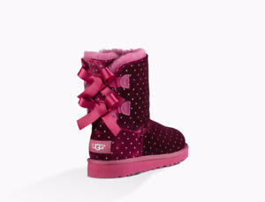 UGG TODDLERS BAILEY BOW STARLIGHT Size 7 (2-3 years)