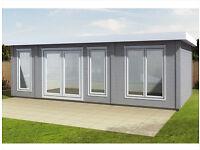 7.4m x 4m log cabin