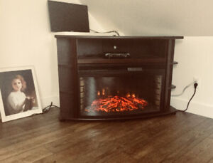 Fireplace with remote, $150