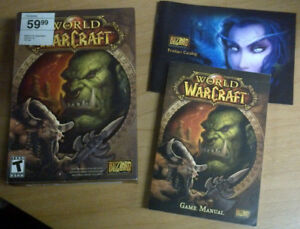 Warcraft Boxes and instruction booklets