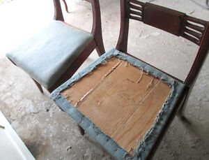 Vintage 1940s Wood Dining Room Chairs Kawartha Lakes Peterborough Area image 4