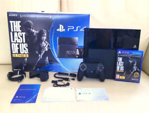 500GB PS4 - The Last of US Remastered Bundle