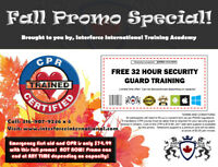 FREE SECURITY GUARD TRAINING NOVEMBER ONLY $75 FOR CPR! HOT DEAL