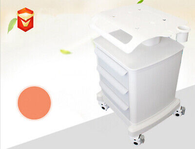 Mobile Rolling Cart For Ultrasound Scannerimaging Machine Lab Trolley White