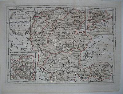 Neumark Brandenburg Kolor Kupferstich Karte Reilly 1791 Sternberg Cottbus