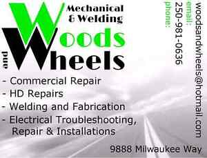 Commercial truck and trailer. Repair. Fab. Service. Welding.