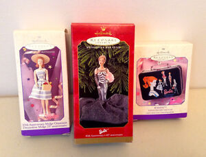 NEW Barbie Anniversary & African-American Ornaments