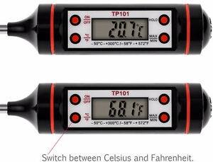 Digital LCD Food Thermometer for Cooking