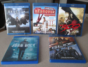 BLU-RAY MOVIES USED ASSORTED TITLES PART 2