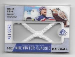 2013-14 UD SP GAME USED MARTIN BIRON WINTER CLASSIC NET CORD SCN