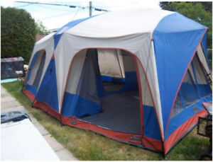 Quest  tent 4 rooms cabin dome